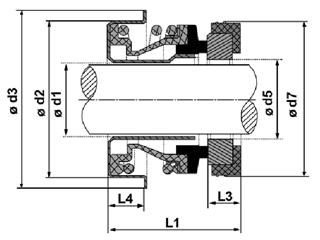 Сальник качающего узла CP20 для полугрязевых, грязевых мотопомпа